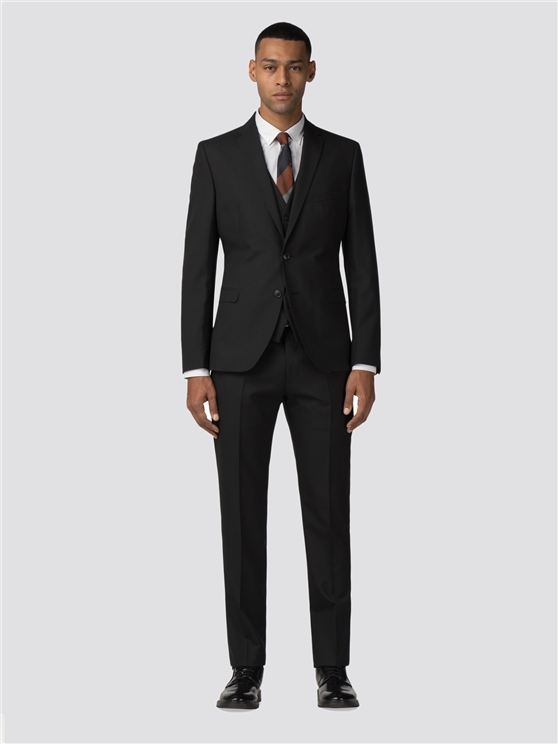 Black Tonic Camden Fit Three Piece Suit