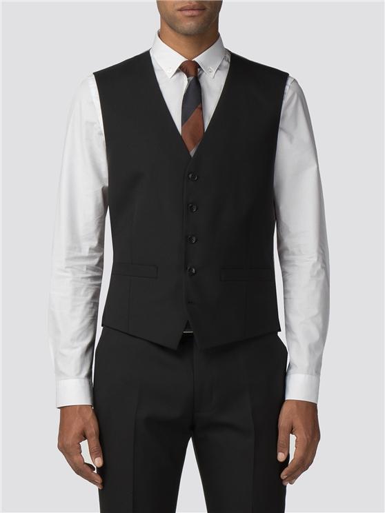 Black Tonic Camden Fit Waistcoat