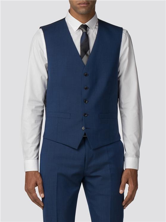 Bright Blue Tonic Camden Fit Waistcoat
