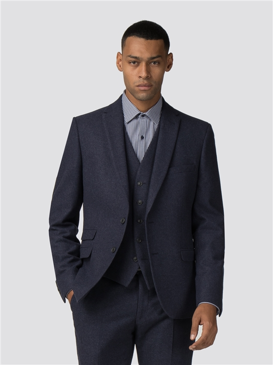 Deep Blue Tweed Donegal Camden Fit Jacket