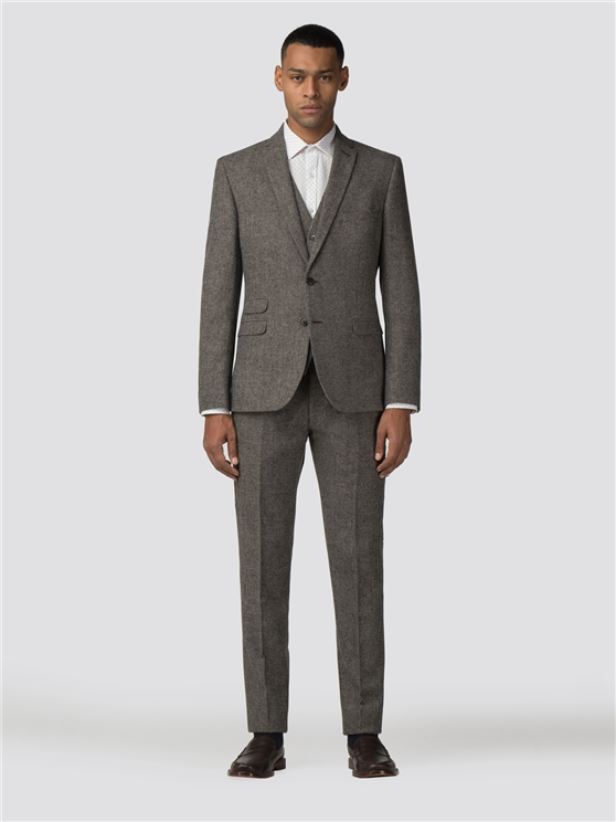 Oatmeal Tweed Donegal Camden Three Piece Suit