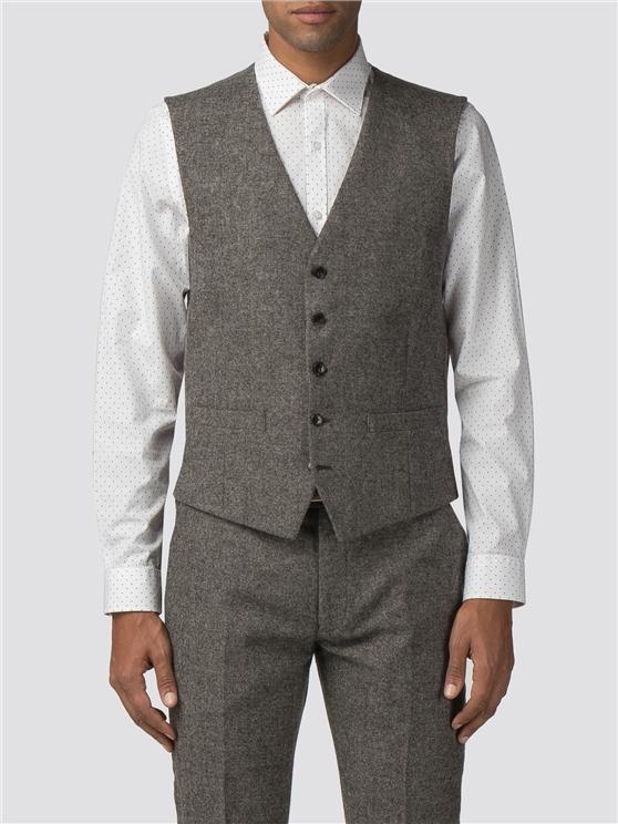 Oatmeal Tweed Donegal Camden Waistcoat