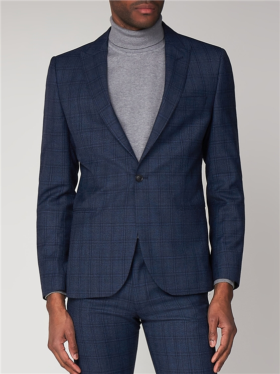 Airforce Blue Check Camden Fit Suit