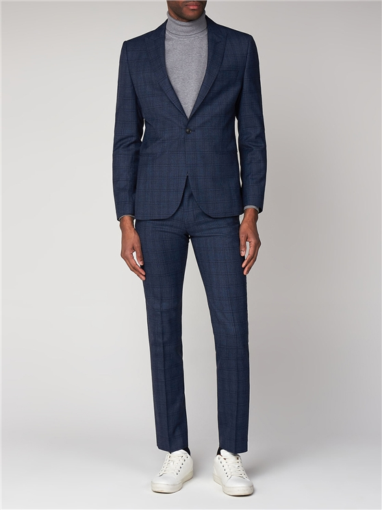 Airforce Blue Check Camden Fit Suit Jacket