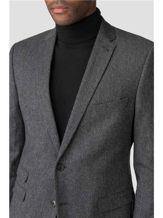 British Charcoal Tweed Camden Fit Suit