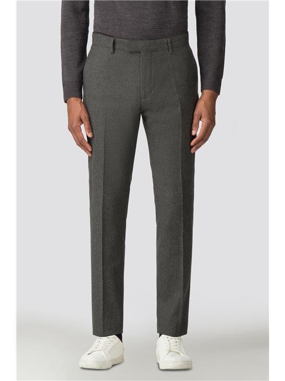 British Deep Sage Donegal Tweed Camden Trouser