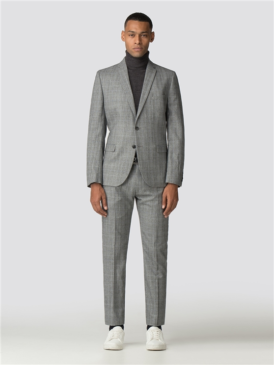 British Grey Prince of Wales Mod Check Camden Fit Suit