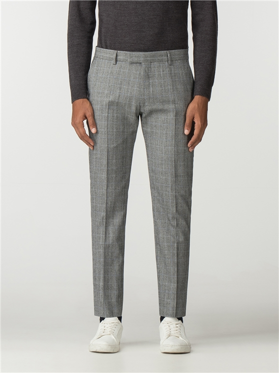 British Grey Prince of Wales Mod Check Camden Fit Trouser