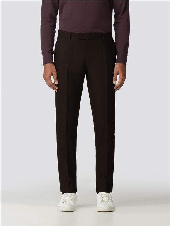 British Vintage Mulberry Flannel Camden Trouser