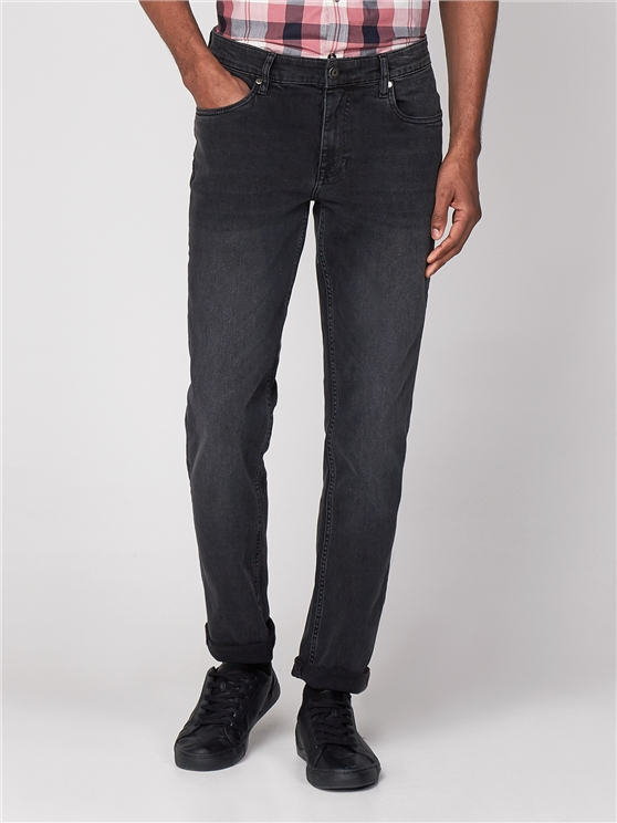 Straight Washed Black Jean