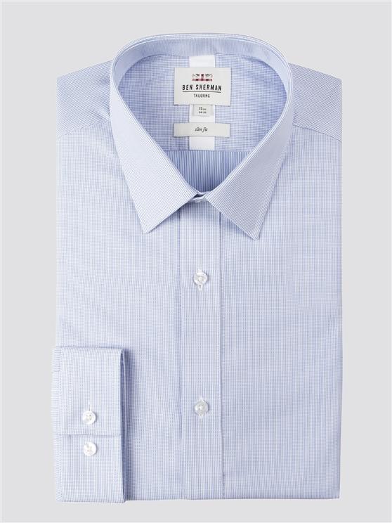 Long Sleeve Dobby Textured Shirt