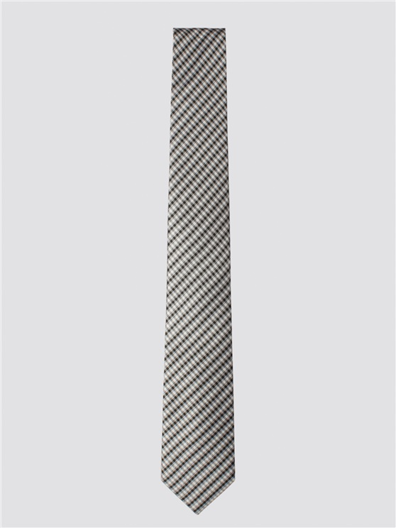 Grey & Black Checkered Necktie