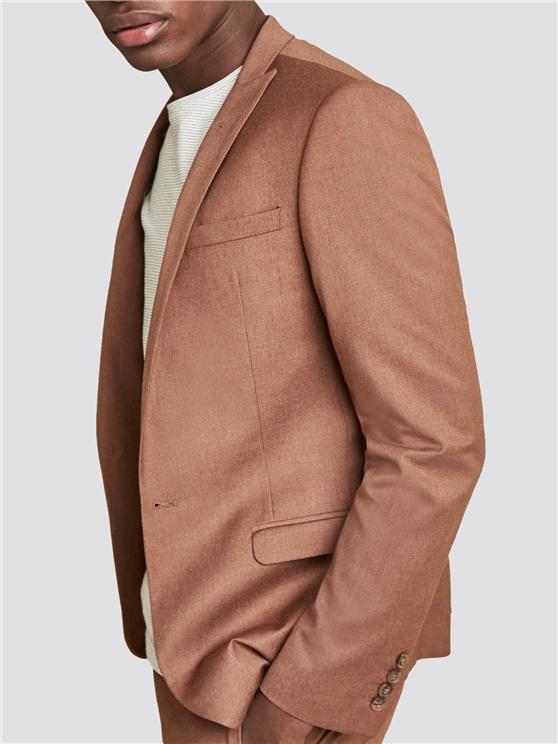 Tan Textured Skinny Fit Suit