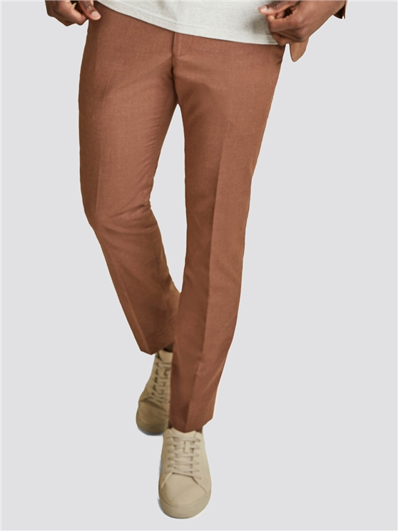 Tan Texture Skinny Fit Trouser