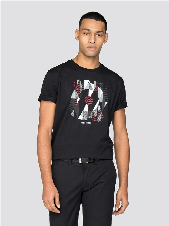Black Argyle Target T-Shirt