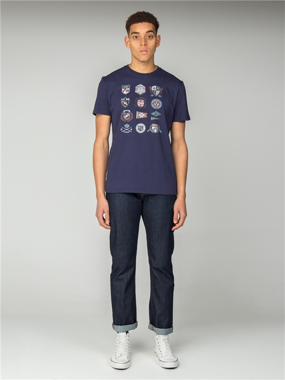 Navy Ivy Badges T-Shirt