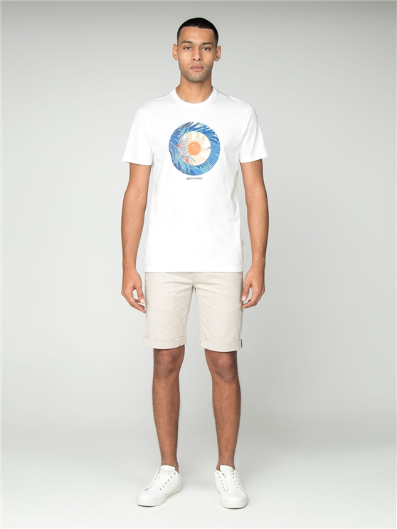 White Tropical Target T-Shirt
