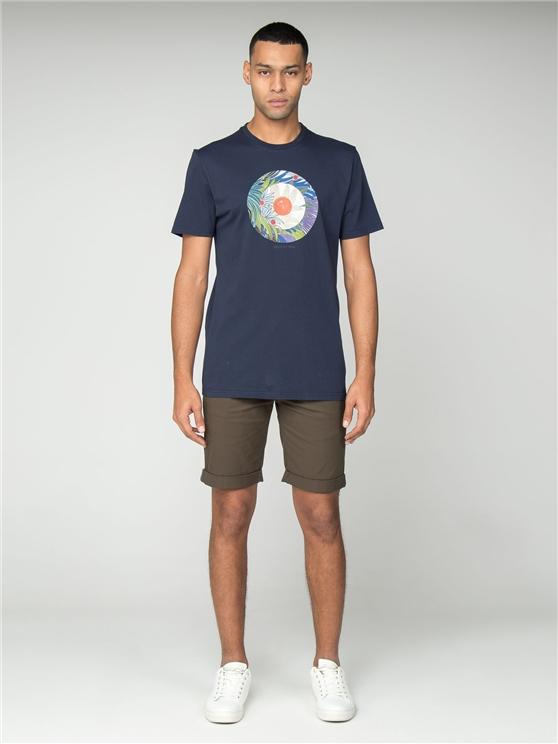 Navy Tropical Target T-Shirt