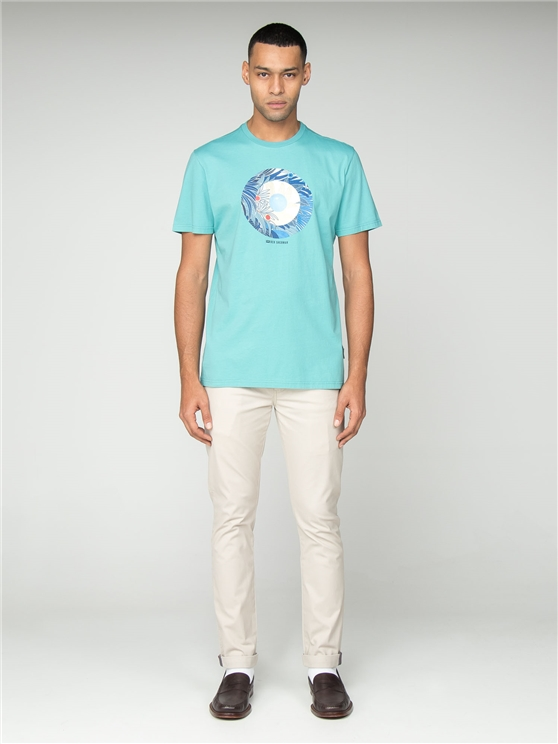 Turquoise Tropical Target T-Shirt