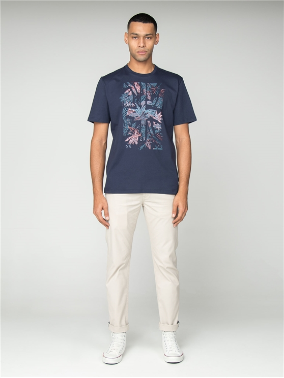 Navy Tropical Union T-Shirt