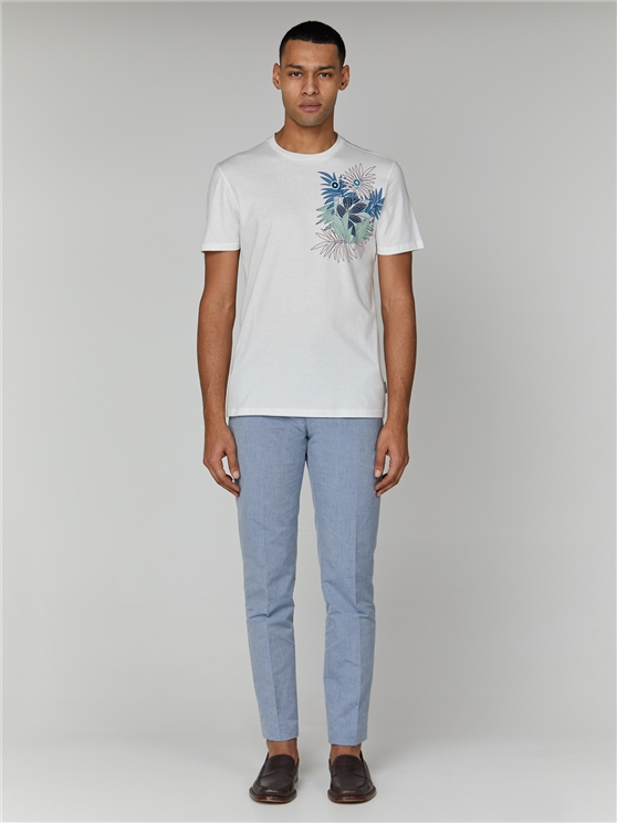 White Tropical Pocket T-Shirt