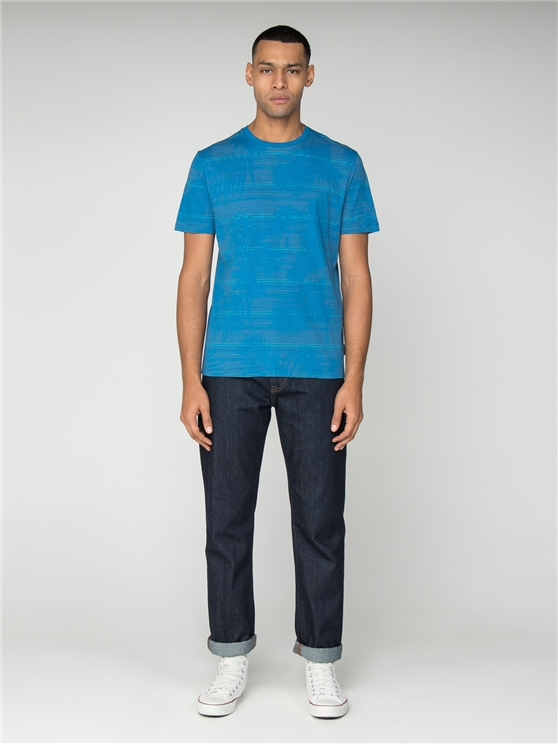 Blue Palm Stripe T-Shirt