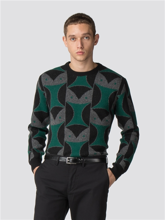 Large Owl Pattern Jumper
