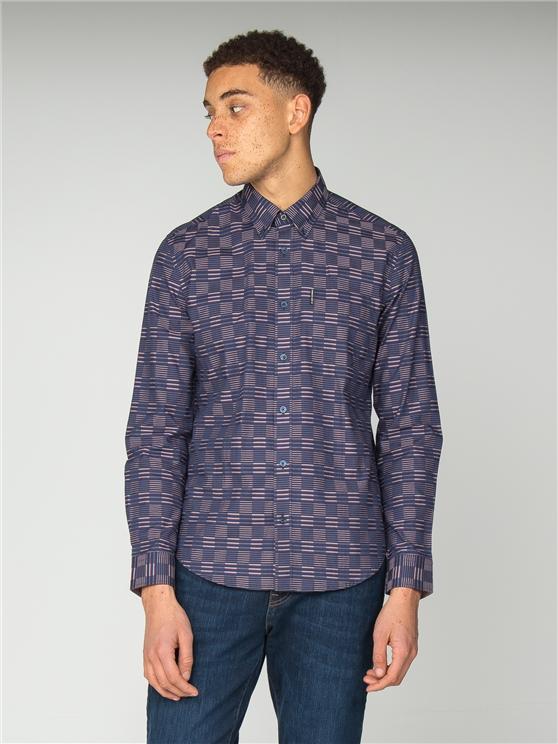 Long Sleeve Ivy Stripe Check Shirt