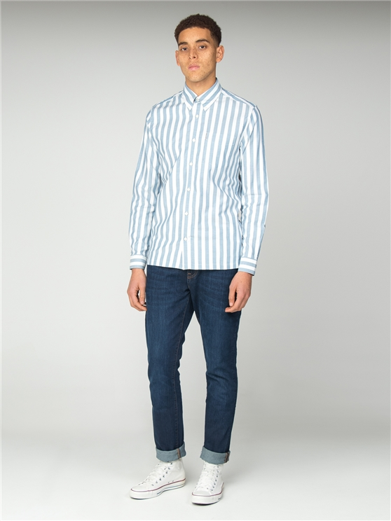 Oxford Blue Ivy Stripe Shirt