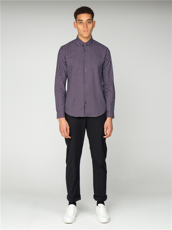 Long Sleeve Oxford Geo Shirt