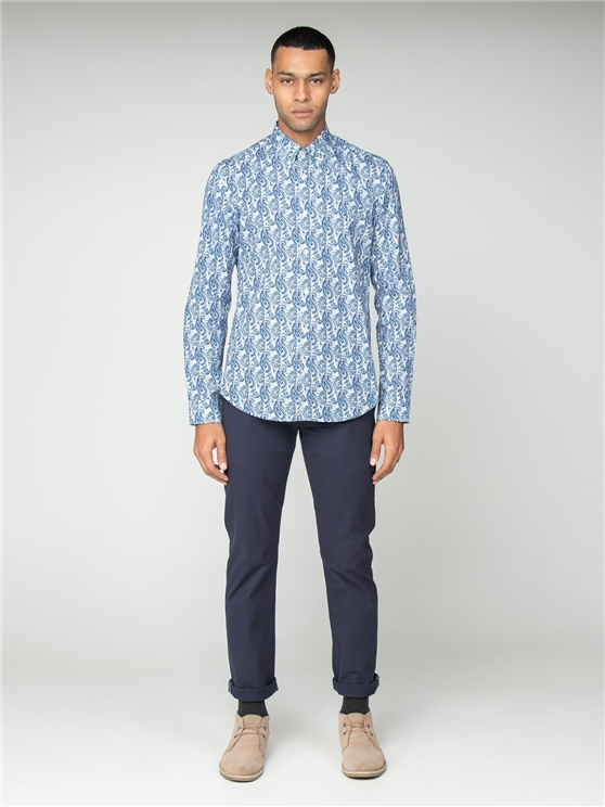 Long Sleeve Linear Paisley Shirt