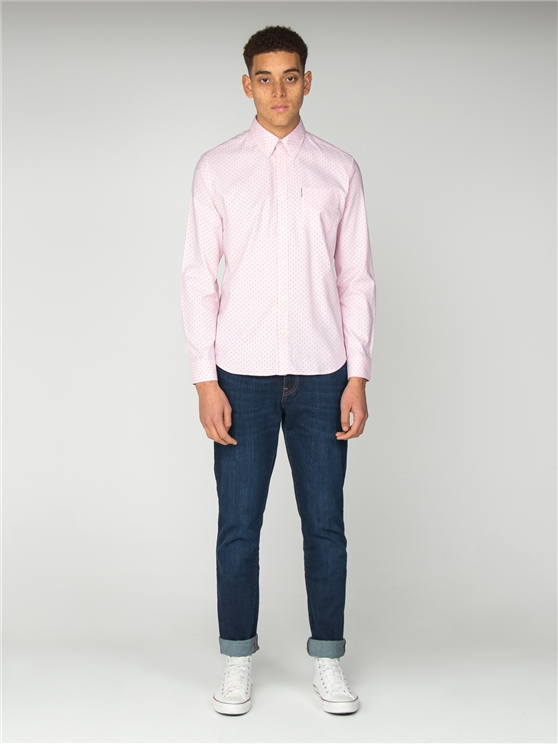 Pale Pink Oxford Polka Dot Shirt