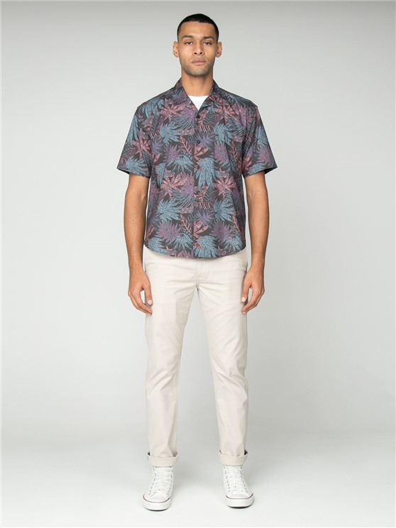 Short Sleeved Tropical Paisley Hawaiian Shirt