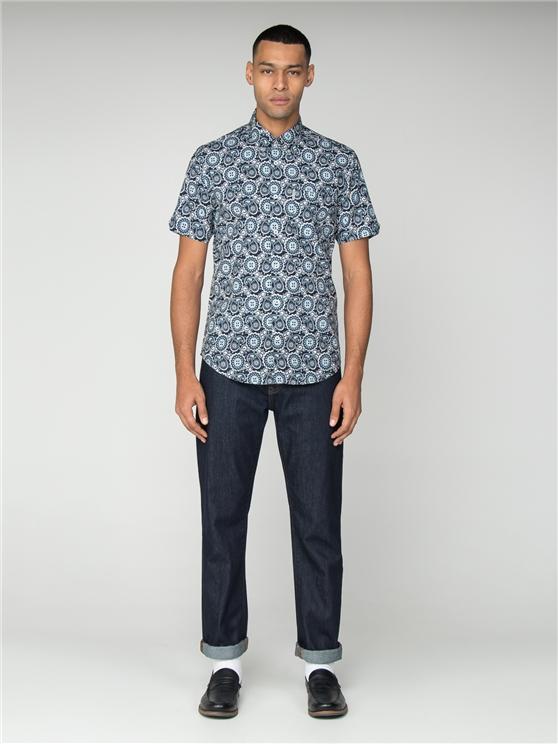 Short Sleeve Summer Paisley Shirt