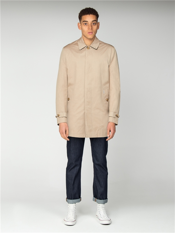 Beige Cotton Mac