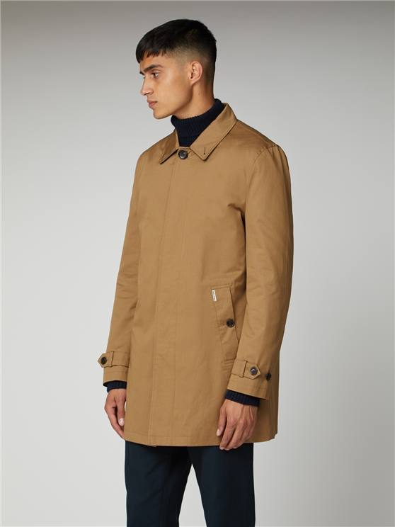 Brown Cotton Mac