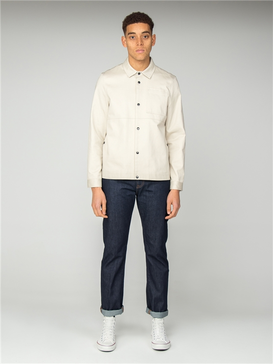 Ecru Long Sleeve Overshirt