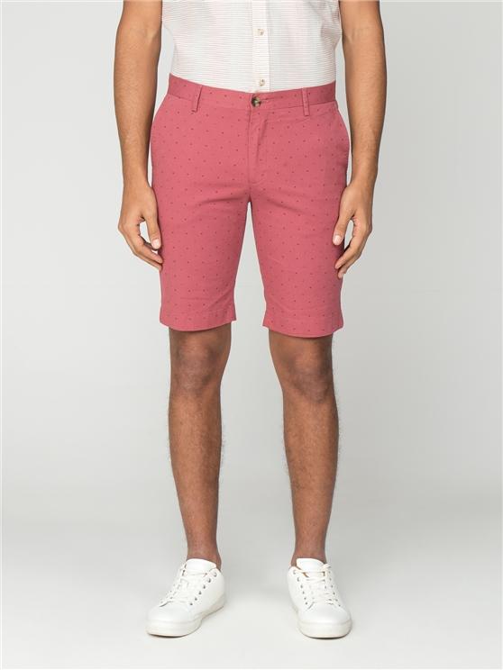 Pink Printed Dobby Shorts