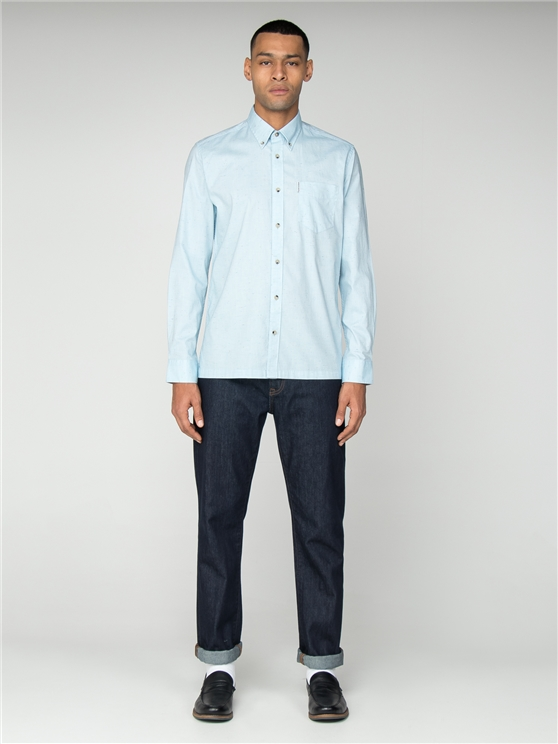 Blue Marl Long Sleeved Shirt