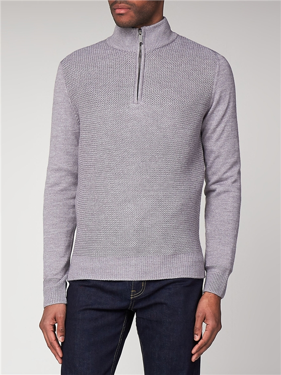 Quarter Zip Heavy Knit