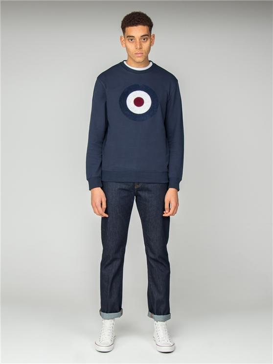 Navy Applique Target Sweatshirt