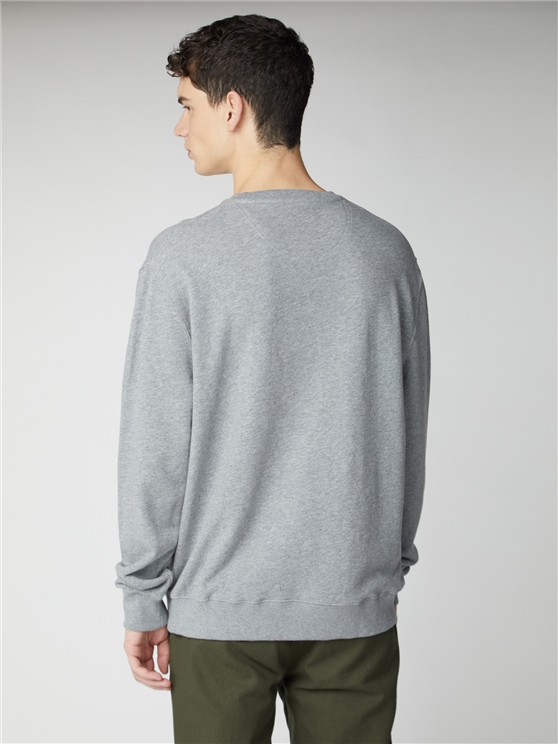 Grey Applique Target Sweatshirt