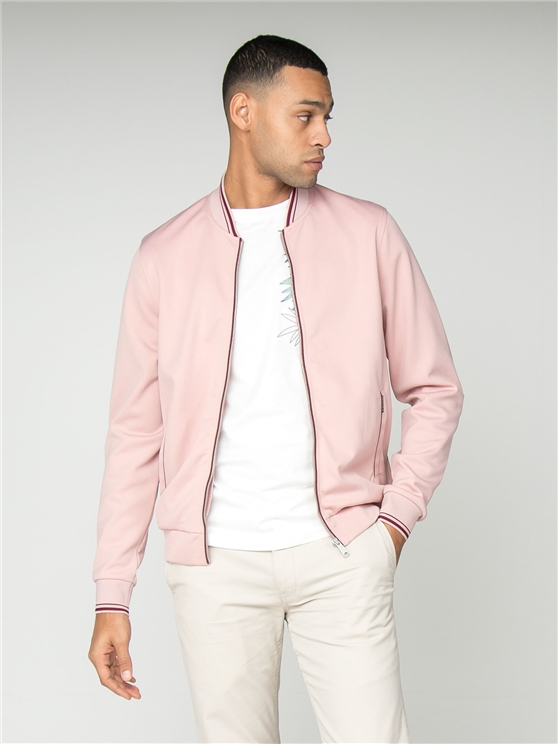 Pink Tricot Bomber Jacket