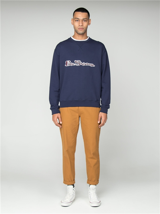 Navy Archive Logo Carrier Sweatshirt