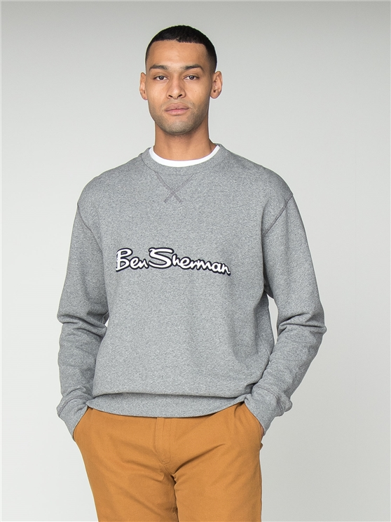 Silver Grey Archive Logo Sweatshirt