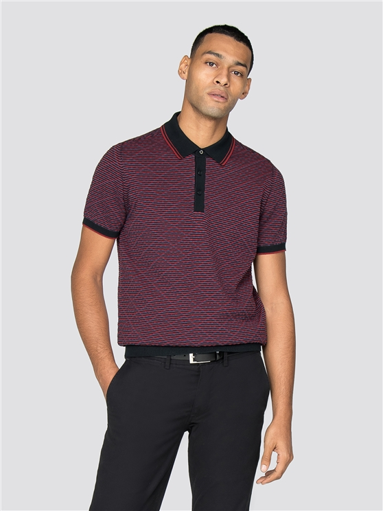 Tipped Tonal Texture Polo