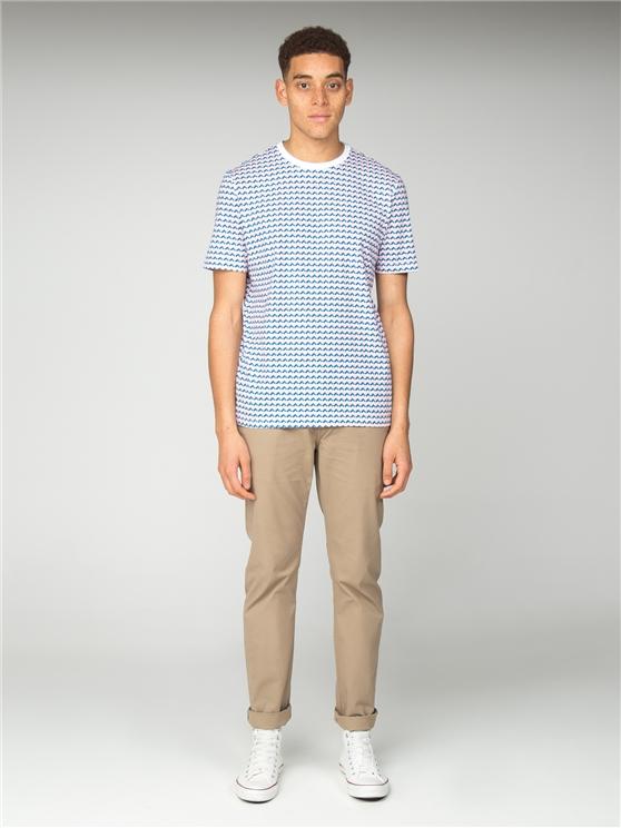 Geo Print Long Line T-Shirt