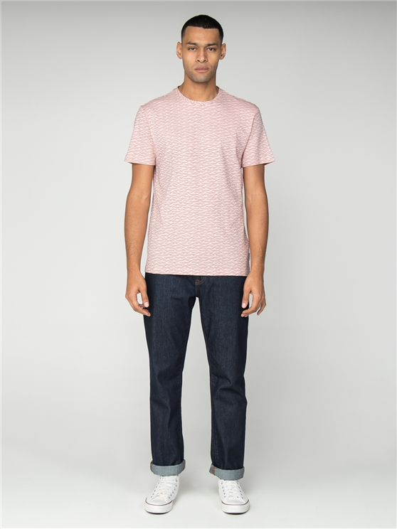 Pink Geo Wave Print T-Shirt
