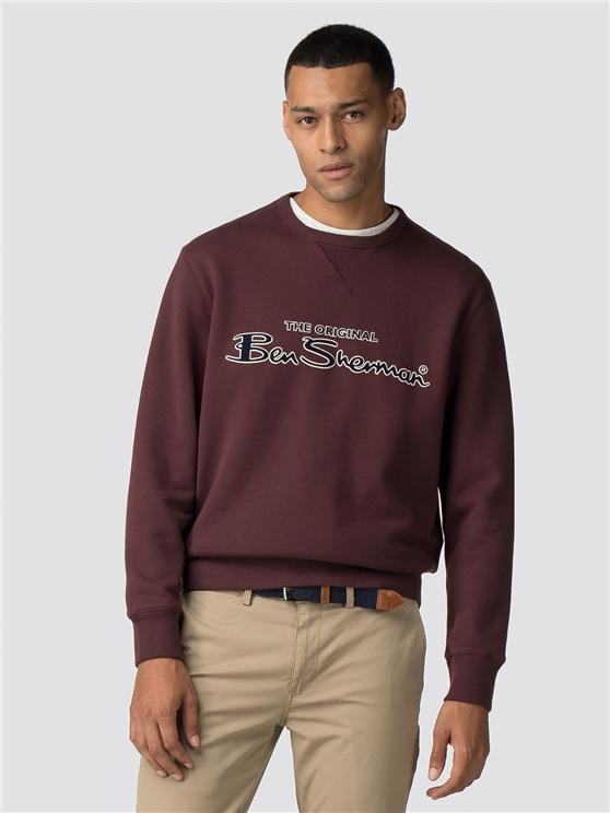 Burgundy Archive Sweater