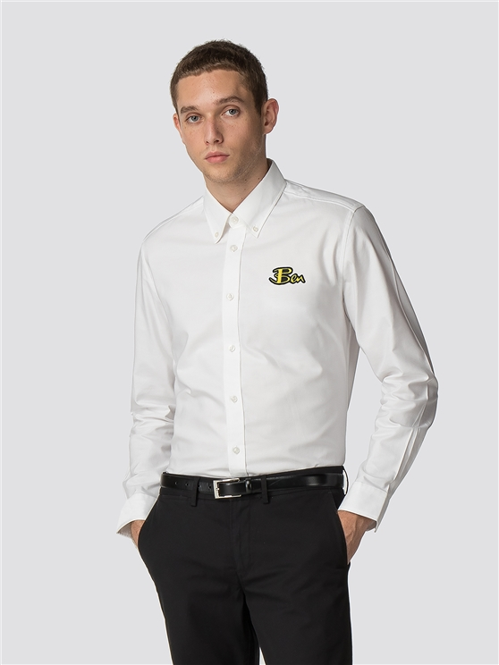BEN SHERMAN HOUSE OF HOLLAND EMBROIDED LOGO SHIRT